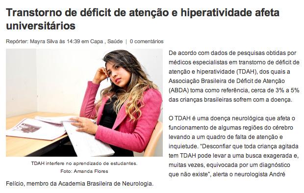 Transtorno de déficit de atenção e hiperatividade afeta universitários