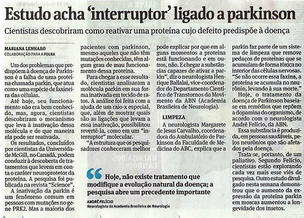 Folha de São Paulo Parkinson